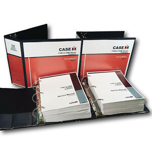 CASE IH 7100 7200 SERIES TRACTORS SERVICE MANUAL REPAIR SHOP TECHNICAL BOOK SET