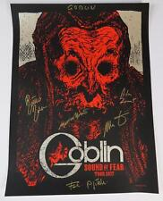 GOBLIN (the band) Signed Autograph 18x24 Tour Poster by All 5 Dario Argento