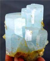 Aquamarine Crystals with Mica Specimen from Pakistan - 228 gram , 88*55*54 mm