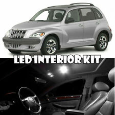 01-10 Chrysler PT Cruiser White Interior LED Light Bulb Full Kit + Mirror Vanity