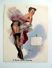 Vintage Small 1940s Gil Elvgren Pin Up Girl Picture  A Frame Worth Picturing