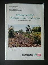 Heft Lückenschluss Plauen - Hof Eisenbahn 1993