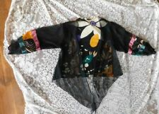 Vintage 1980'S Sparkly Sexy Tie Cover Up Jacket Large