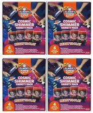 Elmer's Gue 4pk Cosmic Shimmer Premade Slime Variety Pack-Lot of 4 (16 jars)
