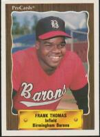 1990 ProCards Frank Thomas RC Chicago White Sox #1116 Rookie Card