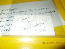 Harry Blackstone Jr. Signed Business Card-1988