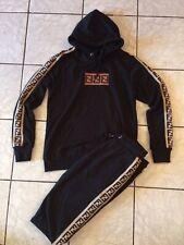 NEW FENDI Men's  SPORT SET Sweatshirt And Pants Size L Black Color
