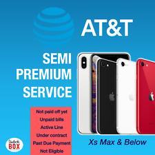 AT&T US ATT iPhone Unlock Service XS Max Xr Xs X | SEMI PREMIUM Unpaid bills ETC