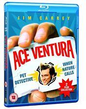 ACE VENTURA PET DETECTIVE & WHEN NATURE CALLS BLU RAY SET JIM CARREY ALL REGIONS