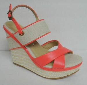 CHINESE LAUNDRY Z FAVORITE WOMEN'S PLATFORM WEDGE HEEL SANDALS SIZE 6 CORAL