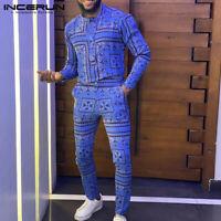 Mode Herren Langarm Jumpsuit African Slim Fit Strampler Workwear Casual Hosen
