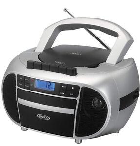 New Jensen MP3/CD WMA Player Boombox AM/FM Radio Cassette Player/Recorder AUX-IN
