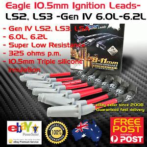 EAGLE 10.5mm Ignition Spark Plug Leads fits Holden VE VF LS2 LS3 Gen IV 06-17