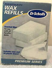 Dr Scholls Paraffin Bath Wax Refills Premium Series Scented 2-1Lb Wax 30 Liners