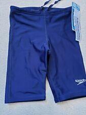 Speedo Boys' Pro LT Jammer Swimsuit, 8051480, Navy Size 24