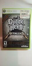 Guitar Hero: Metallica (Microsoft Xbox 360, 2009) Complete! Case Disc Manual