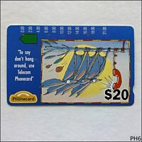 Telecom Advertising Bats A920104-4 201 $20 Phonecard (PH6)