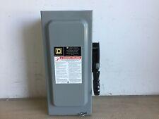 SQUARE D HU361 30 AMP 600 VOLT 3 PHASE N/FUSED INDOOR DISCONNECT