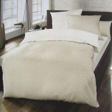 Schlafgut Wende Bettwäsche Set Mako Satin Baumwolle 135 x 200 Orange Beige Creme
