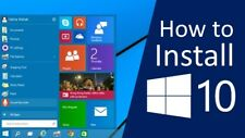 """Windows 10 Pro (How to Download and Install Guide """"Step by Step"""") No Key"""