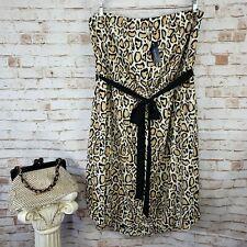 NWT Lane Bryant Size 18/20 Strapless Leopard Animal Print Tie Belt Dress RP $79
