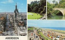 Postcard   Scotland  Aberdeen multi view posted