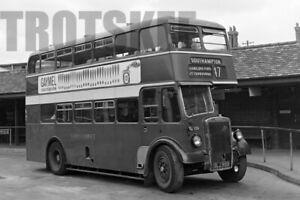 Larger Negative Hants & Dorset Leyland Titan ECW 1147 GLJ959 c1950s