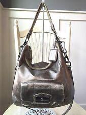 COACH KRISTIN Bronze Metallic Convertible Hobo Crossbody Shoulder Bag 14783
