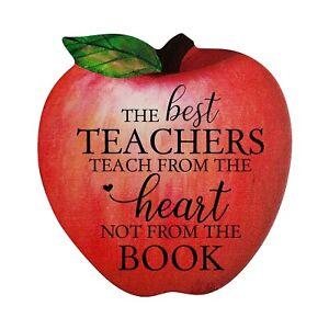 Inspirational Quotes Apple Shape Wall Art Decor Gift Idea for Teachers