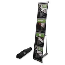 Deflect-O Mesh Floor Display 4 Compartment Presentation Portable Rack 780172