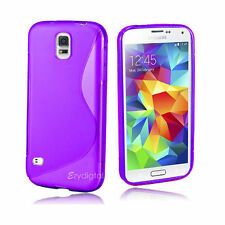 Silicone/Gel/Rubber Plain Mobile Phone Cases, Covers & Skins for Samsung Galaxy S5