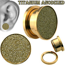 Sandpaper Plugs Silver Rose Gold Titanium Pink Cheetah Ear Tunnel Body Jewelry