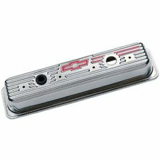Gm 141 105 Valve Covers Chrome Center Bolt Chevy Small Block Tall Fits Bowtie