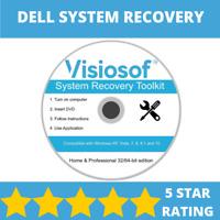 DELL System Recovery Boot CD DVD Disc Repair Restore Windows 10 8 7 Vista XP