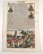 Schedel Nuremberg Blatt 27 Chronicles Athen Stammbaum Linea Christi Pharaoh