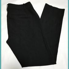 "Ann Taylor Black Mid Rise Slim Leg Pants | Women's 6 | 30"" Inseam"