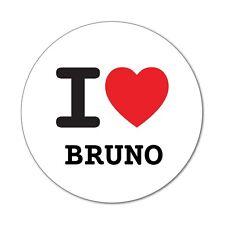 I Love bruno-Pegatina Sticker decal - 6cm