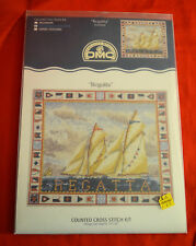 COUNTED CROSS STITCH KIT DMC REGATTA SAIL BOATS NAUTICAL SHIP NEVER OPENED