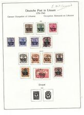 More details for general government - 2 pages of fine used (c£103) - see scan