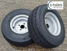 PAIR DELI 20-5 x8-10 20.5 4ply FLOATATION TYRES 4 STUD 100mm PCD - P6 P7 410kg