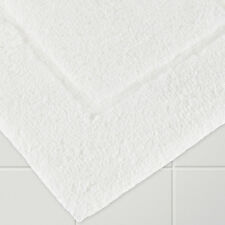 10 Hotel Quality White Bath Mats 100% Cotton Picture Frame Design 700Gsm