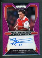 2020-21 MARC OVERMARS 08/99 AUTO PANINI PRIZM PREMIER LEAGUE PURPLE CLUB LEGENDS