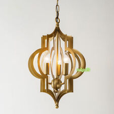 NEOCLASSICAL PENDANT LIGHT CHANDELIER Rustic Lantern Metal Cage Ceiling Lamp