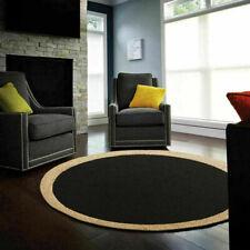 Jute Rug Natural Handmade Rug Round Reversible Braided Rug Modern Area Floor Mat