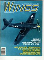 Wings Airplane Magazine Oct 1994 Boeing Monoplane XP-9 XF8B-1 Bodenplatte