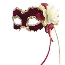 Venetian Masquerade Mask ~ Burgundy, Gold & Cream ~ Ball ~ Party ~ Carnival