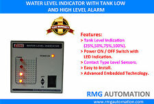 Water Level Indicator with high and low level alarm - Plastic enclosure