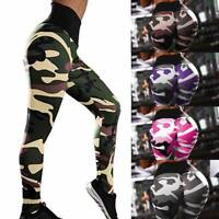 Women Yoga Sports Pants Push Up Leggings Fitness Seamless Gym Trousers Camo US