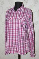 The North Face womens pink checks shirt Size L Short Sleeves