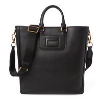 Ralph Lauren Purple Label Black Leather ID Tote Bag New $1250